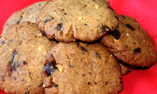 Erdnussbutter-Schoko-Cookies (vegan)